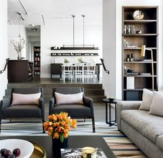 INTERIOR CRAVINGS MODERN INDUSTRIAL LOFT BY CROMA LIVING ROOM 2 Living Room  Modern, Small Living