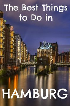 Hamburg, one of the most lovely cities in Germany! A must visit if you're looking for a picturesque blend of modern and history cityscapes. Check out my post to see all of the best things there are to do in #Hamburg!