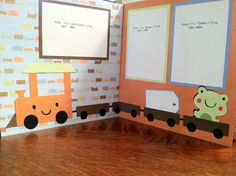 Choo Choo Boys Pre Made 12 x 12 Double Page by aSavvyScrapbooker, $10.00