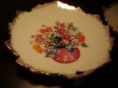 Vintage Plate Napco Japan Fine China Hand Painted Marked Original