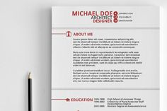 Swiss Style Resume by Tugcu Design Co. on @creativemarket