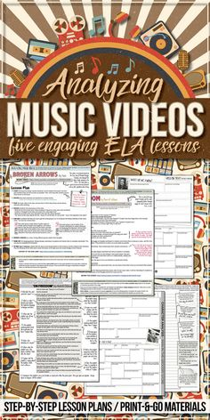 Music videos can be an amazing teaching tool in the ELA classroom. Students love music and by using current music videos you will grab their attention and pique their interest. Grab these FIVE ready-to-teach lessons now!