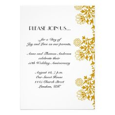 50th Wedding Anniversary Photo Invitations Wedding Anniversary