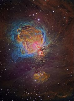 The Great Nebula in Orion, Hubble Palette   Flickr - Terry Hancock