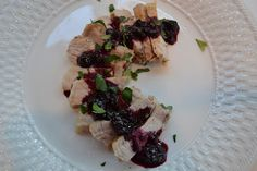 Menus and Meals for Moms: Pork with a Red Wine-Blueberry Sauce