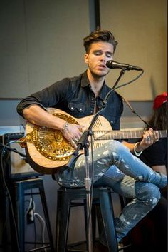 The Marrakech Runes resonator in action at The Roundhouse with JJ of Kaleo - I just knew it would look great on stage! Click the photo to listen Resonator Guitar, Round House, Marrakech, Runes, Acoustic, Guitars, Stage, Action, London