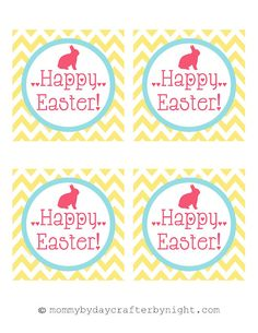 Free printable easter tags eggstra special printables by love free printable happy easter tags negle Images