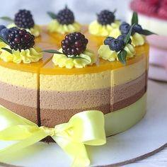 Purple cake, purple dessert, blackberry topping cake, purplecheese cake, – Appetizer Recipes - New ideas Food Cakes, Cupcake Cakes, No Bake Desserts, Delicious Desserts, Dessert Recipes, Mousse Cake, Pastry Cake, Sweet Cakes, Cream Cake