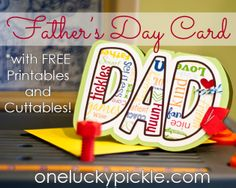 Free Fathers Day Card Printables and Cut Files