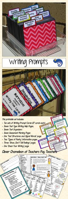 Writing Prompts for kids .. Task card bundle .. 270 card and more .. Just $2 at Teachers Pay Teachers