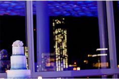 Purple Decor Lighting / New York City Wedding at Trump SoHo / Maya Myers Photography / via StyleUnveiled.com