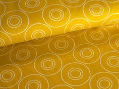 """OPTIK"" von ASTROKATZE Interlock aus 100% Bio-Baumwolle #Astrokatze #Stoff #fabric #pattern #retro #cotton #senfgelb #yellow"
