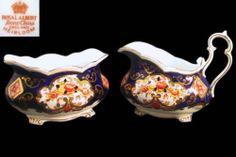 Royal Albert Heirloom Footed Sugar Bowl Creamer Set 1st ENG C1940'S