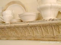 turn old molding into a vintage looking shelf.