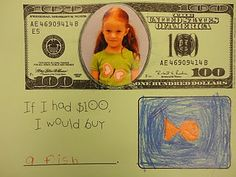 If I had 100 dollars... cute writing activity for the 100th day!