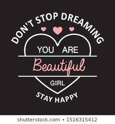 Beautiful Typography, Star Illustration, Stay Happy, Typography Prints, You Are Beautiful, Cl, Slogan, Graphic Tees, Inspired