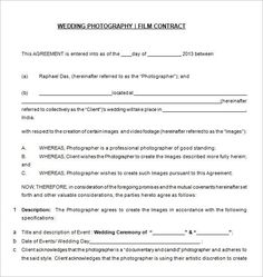 New Born Photography Contract Free Download In Pdf  Photography