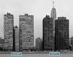 the mies van der rohe lake shore buildings.  lovely.