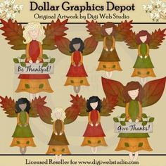 Autumn Angels - Clip Art
