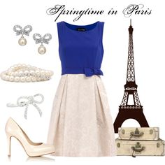 Springtime In Paris (Prom), created by alanad23 on Polyvore