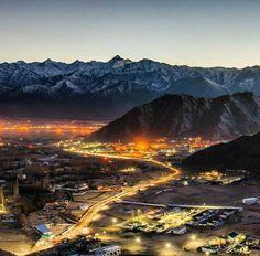 Leh town , Ladakh , India.