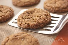 Molasses Crinkles – Food Blogger Cookie Swap | my kitchen addiction