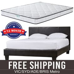 Bed Frame Memory Pillow Top Mattress Combo Double Multiple