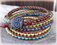 ONE OF A KIND Seed Bead Wrap Bracelet by AZJEWELRYBYELIZABETH