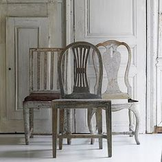 gustavian chairs  I would love to add 4 of these type chairs to my dining table <3