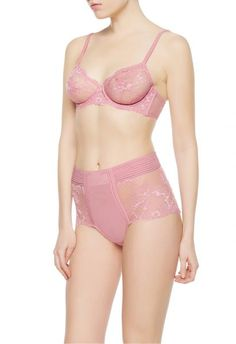 Bra featuring luxurious floral Leavers lace to create see-through effects. The garment features a georgette silk trim. Beautiful Lingerie, See Through, Pretty Little, Silk, Luxury, Lace, Floral, Collection, Fashion