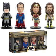 Mini Wacky Wobbler Set: Batman VS Superman | Funko