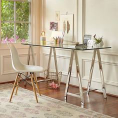 With this Colton Mix & Match Desk combination, a sleek glass top and…