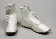1870 Child's Boots  Culture: American  Medium: leather, kid leather