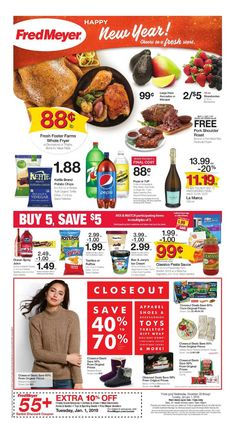 Browsing the Fred Meyer ad flyer here! Isn't the Fred Meyer weekly ad next week posting yet? We're posting Fred Meyer sneak peek ad a few days before the deal issues. Fred Meyer, Digital Coupons, Weekly Specials, December 26, Sale Flyer, Weekly Ads, Pork Roast, Store Design, Grocery Store