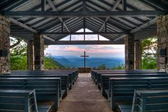 My father, my brother and later my son all camped at Camp Greenville at Cedar Mountain, North Carolina. It's a YMCA camp. I went to Camp Burgess Glen which was further down the mountain. This chapel is one of my favorite spots in the world.