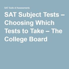 What are the subjects in SATS?