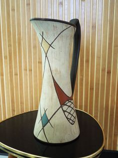 Vase - Mid Century  - Googie - Atomic - Mad Men - made in Germany 1950s