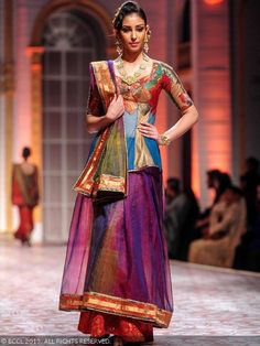 Navneet Kaur Dhillon showcases a creation by designer duo Ashima and Leena during India Bridal Fashion Week '13, held at Grand Hyatt, in Mum...