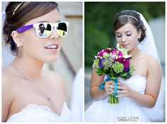 I am really starting to like the sunglasses look for wedding photos :)