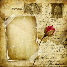 skrap_klipart - «vintage love letter with dry rose» on Yandex