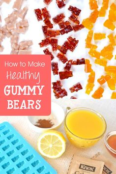 Homemade gummy bears are super fun to eat and also enjoyable to make. You can infuse your homemade gummy bears with healthy juices, honey and fresh squeezed citrus. See how we made orange and cranberry gummy bears! Homemade Gummy Bears, Homemade Gummies, Healthy Juices, Healthy Snacks, Fun Baking Recipes, Snack Recipes, Fruit Snacks, Kid Snacks, Gummi Candy