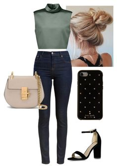 """#49"" by bonderose ❤ liked on Polyvore featuring TIBI, Barbour, Chloé, Boohoo and Kate Spade"