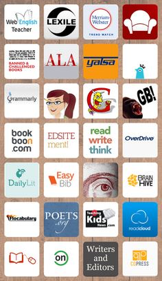 Clickable links for English Language Arts. Games, content, apps, references. Middle and secondary.
