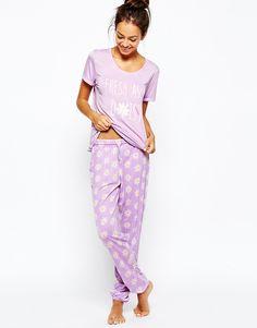 Image 1 of Chelsea Peers Ditsy Daisy Pajama Set