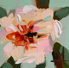 Camellia Flower original floral oil painting by Angela Moulton