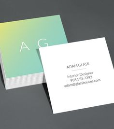 Browse Square Business Card Design Templates