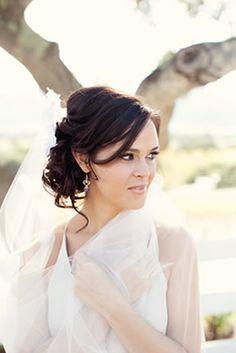 Wedding hair - side ponytail