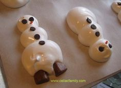 Meringue Cookies with Holiday Shapes - gluten-free, dairy-free