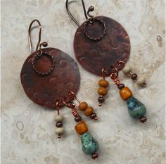 Boho Urban Chic Earrings by SunStones on Etsy, $16.00
