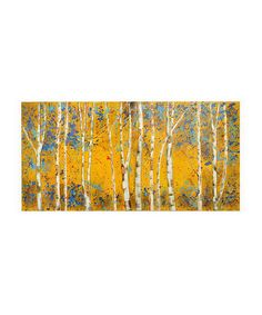 Look at this Three Hands Corporation Birch Trees Wooden Wall Décor on #zulily today!
